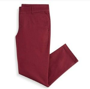 Kut from the Kloth Burgundy Red Siena Cropped Pant